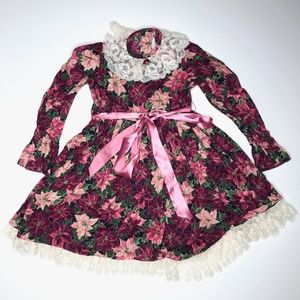 Vintage Handmade Poinsettia Dress